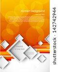 orange background and white... | Shutterstock .eps vector #142742944