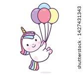 illustration of unicorn vector... | Shutterstock .eps vector #1427431343