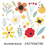 early spring forest and garden... | Shutterstock .eps vector #1427436740