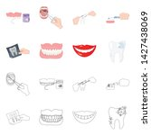 vector design of tooth and... | Shutterstock .eps vector #1427438069