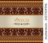 illustration vintage background ... | Shutterstock .eps vector #1427439596