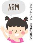 illustration of a kid girl... | Shutterstock .eps vector #1427447549