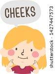 illustration of a kid girl... | Shutterstock .eps vector #1427447573
