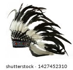 Indian Hat With Feathers...