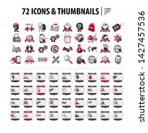 set of icons and web thumbnails ...