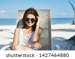cheerful pretty woman is...   Shutterstock . vector #1427464880
