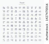 100 travel outline icons set...   Shutterstock .eps vector #1427470016