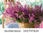 Full Basket Of Purple Heather...
