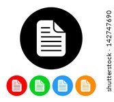 document icon | Shutterstock .eps vector #142747690