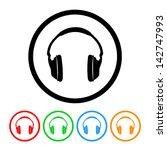 headphones icon | Shutterstock .eps vector #142747993
