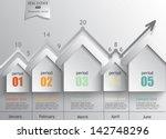 real estate   a concept vector... | Shutterstock .eps vector #142748296