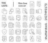 lists thin line icon set ... | Shutterstock .eps vector #1427493173