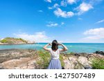 young girl woman female on...   Shutterstock . vector #1427507489