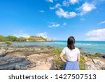young girl woman female on...   Shutterstock . vector #1427507513