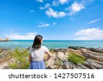 young girl woman female on...   Shutterstock . vector #1427507516