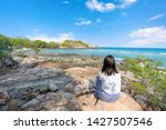 young girl woman female on...   Shutterstock . vector #1427507546