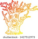 warm gradient line drawing of a ... | Shutterstock .eps vector #1427512973