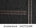 railroad tracks is not linked up | Shutterstock . vector #142751488