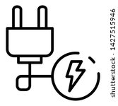 electric plug wire icon.... | Shutterstock .eps vector #1427515946