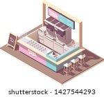 vector isometric frozen yogurt... | Shutterstock .eps vector #1427544293