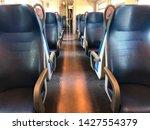 empty blue train seats no people   Shutterstock . vector #1427554379