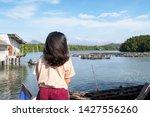 hipster young teenage traveler...   Shutterstock . vector #1427556260