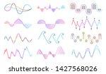 vector music sound waves set.... | Shutterstock .eps vector #1427568026