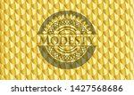 modesty gold shiny emblem....   Shutterstock .eps vector #1427568686
