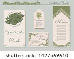 set of invitation card template ... | Shutterstock .eps vector #1427569610