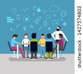 business people having board... | Shutterstock .eps vector #1427574803