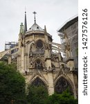 north notre dame cathedral...   Shutterstock . vector #1427576126