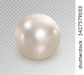 realistic white pearl with...   Shutterstock .eps vector #1427579033