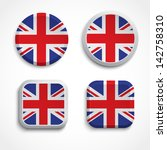 great britain flag buttons ... | Shutterstock .eps vector #142758310