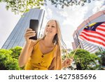 travel and technology. young...   Shutterstock . vector #1427585696