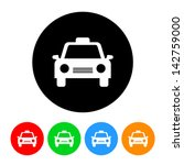 Taxi Icon - stock vector