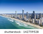 aerial view of surfers paradise ...