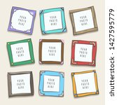 wall collage picture frames.... | Shutterstock .eps vector #1427595779