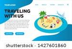 traveling isometric creative...   Shutterstock .eps vector #1427601860