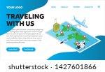traveling isometric creative...   Shutterstock .eps vector #1427601866