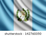 waving flag of guatemala  vector | Shutterstock .eps vector #142760350
