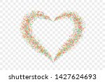 heart confetti isolated white... | Shutterstock .eps vector #1427624693