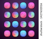 keto diet app icons set. low... | Shutterstock .eps vector #1427632016