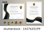 black and gold certificate of... | Shutterstock .eps vector #1427635199