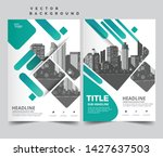 business brochure flyer design... | Shutterstock .eps vector #1427637503