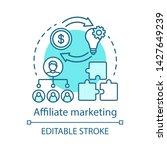 affiliate marketing blue... | Shutterstock .eps vector #1427649239