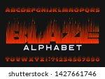 blaze alphabet font. flame...   Shutterstock .eps vector #1427661746