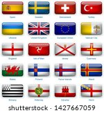 button flags europe three.... | Shutterstock .eps vector #1427667059