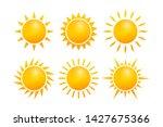 set realistic sun icon for... | Shutterstock .eps vector #1427675366