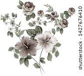 set of vintage flower bunch | Shutterstock .eps vector #1427676410