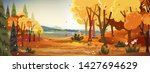 fantasy panorama landscapes of... | Shutterstock .eps vector #1427694629